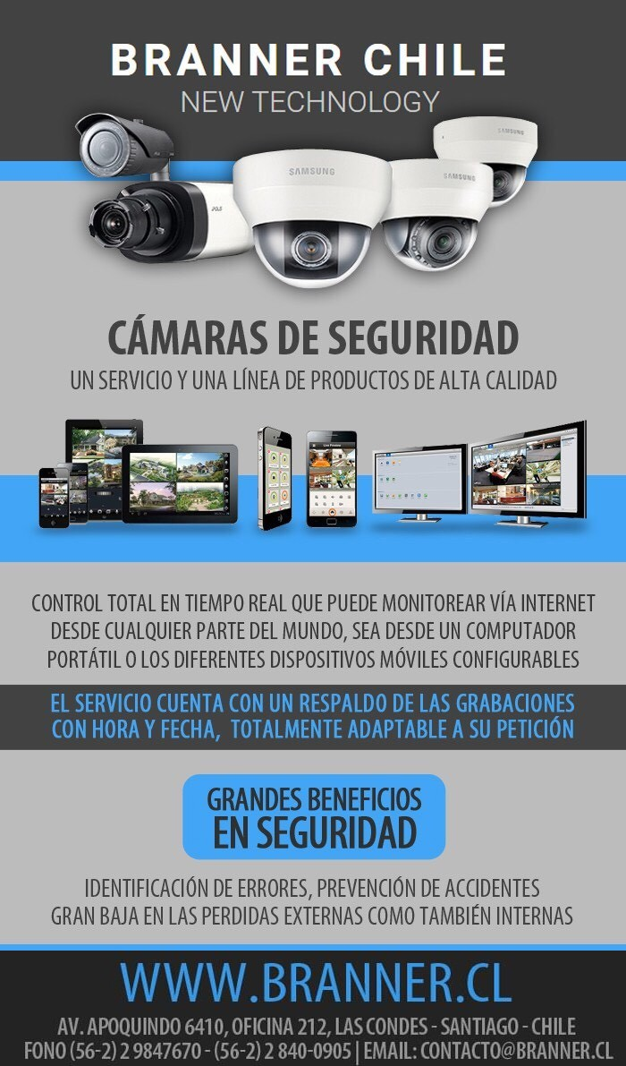 Cámaras de Seguridad Branner Santiago de Chile