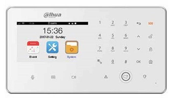 Panel Central de Video Alarma Dahua Inalámbrica DHI-ARC5402A-GW